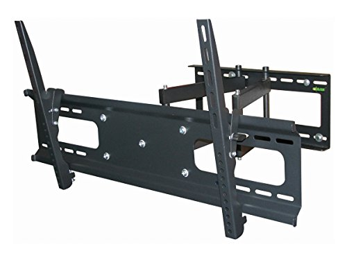 Black-Full-Motion-TiltSwivel-Wall-Mount-Bracket-for-Planar-PS4661T-46-inch-LCD-Digital-Signage-ArticulatingTiltingSwiveling-0