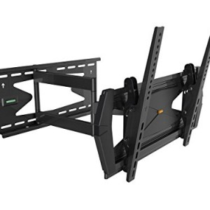 Black Full-Motion Tilt/Swivel Wall Mount Bracket with Anti-Theft Feature for Panasonic TH-47LF6 47″ inch LCD Digital Signage – Articulating/Tilting/Swiveling