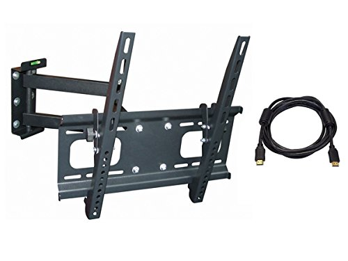 monoprice 114436 full motion tv wall mount bracket with 10