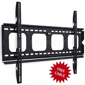 Mount-It! MI-305L Premium Low-Profile Fixed TV Wall Mount Bracket for 42 – 70 inch LCD, LED, 4K  Flat Screen TVs Capacity 220 lbs,  Max VESA 850×450