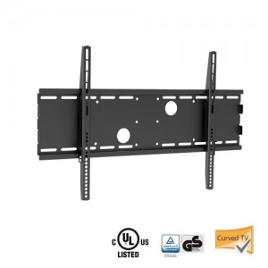 Mount-It! MI-365B Fixed TV Wall Mount Bracket for 37″- 70″ Flat Panel LCD, LED, Plasma TVs, (up to 165lb/75kg – VESA 600×400), Black