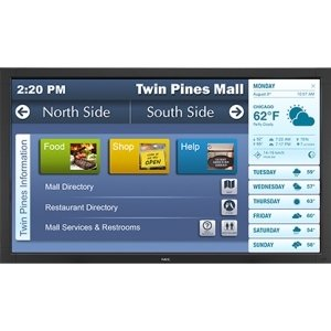 "Nec Display 42″ Led Backlit, Touch Integrated Large Screen Display . 42″ Lcdethernet ""Product Type: Video Electronics/Digital Signage Systems"""