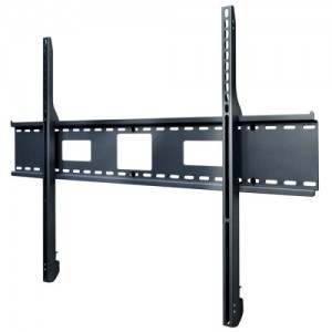 Peerless SF680P Universal Fixed Low-Profile Wall Mount for 60″ to 195″ Displays (Black/Non-Security)