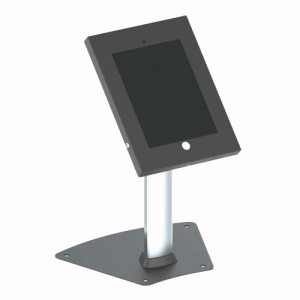 Pyle PSPADLK12 Tamper-Proof Anti-Theft iPad Kiosk Safe Security Desk Table Stand, Holder, Public Display Case with Cable Management for iPads 2/3/4