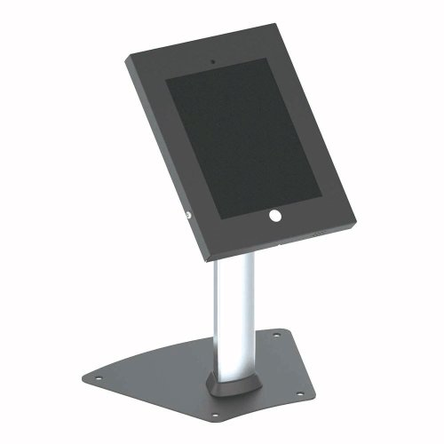 Pyle-PSPADLK12-Tamper-Proof-Anti-Theft-iPad-Kiosk-Safe-Security-Desk-Table-Stand-Holder-Public-Display-Case-with-Cable-Management-for-iPads-234-0