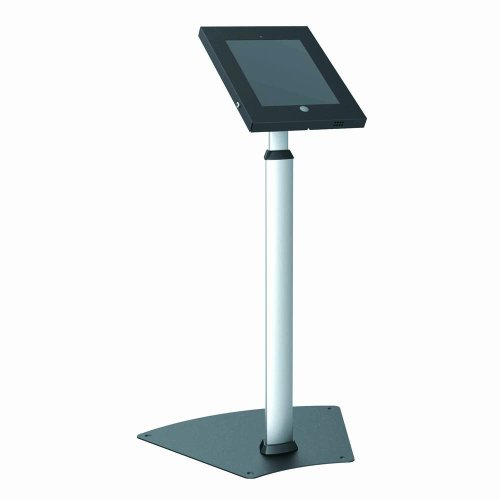 Pyle-PSPADLK55-Tamper-Proof-Anti-Theft-iPad-Kiosk-Safe-Security-Public-Floor-Stand-Holder-Public-Display-Case-with-Adjustable-Height-Cable-Management-for-iPads-234-0