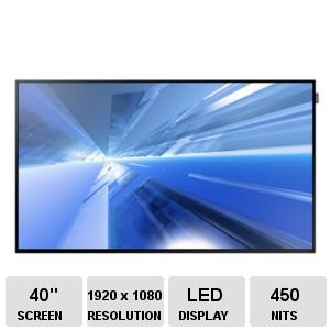 Dm40E/40Inch/Led/1920X1080 (16:9)/5000:1/8Ms/450Nit/Analog D-Sub, Dvi-D(Hdmi Com