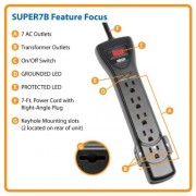 Tripp-Lite-7-Outlet-Surge-ProtectorSuppressor-Power-Strip-7ft-Cord-Right-Angle-Plug-SUPER7B-0-4