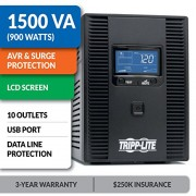 Tripp-Lite-SMART1500LCDT-1500VA-900W-UPS-Smart-LCD-Battery-Back-Up-Tower-AVR-120V-USB-Coax-RJ45-0-5