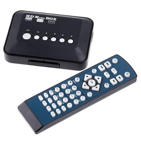 Androset 1080P-TVBOX 1080p HD USB HDMI SD/MMC Multi TV Media Player RMVB MKV 50 (Black 1080p tv box)